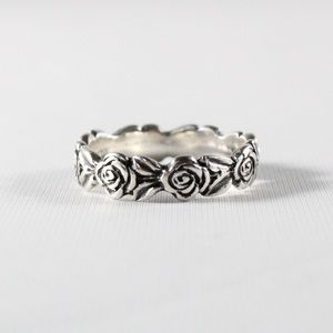 JAMES AVERY Rose Eternity Band RETIRED Ring 6.25